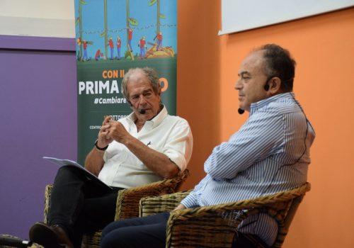 Giovanni Minoli intervista Nicola Gratteri, foto di Elisa D'Arrigo