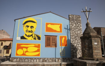 Immagine Nella street art di Riccardo Buonafede l'identità di Castelbuono